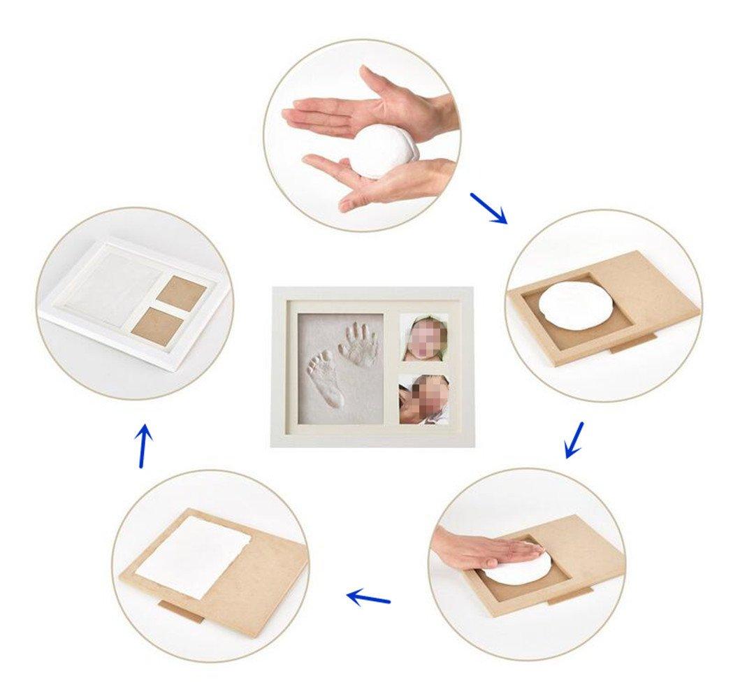 Emwel Baby Holz Bilderrahmen fr Handabdruck und Fussabdruckbaby hand ...