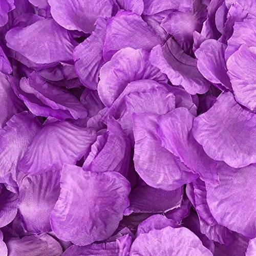 Hcstar 1200pcs matrimonio nuziale confetti decorativi artificiali realistico seta rosa petali di fiori (1200, purple)