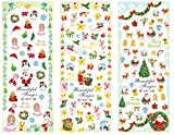 Cartoons Weihnachten Aufkleber Wassertransfer Maniküre Nail Art Sticker Tips HOT196-198 Nail Sticker Tattoo - FashionLife