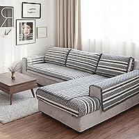 JINGJIE Funda de sofá,Estilo del Norte de Europa Protector para sofás Paño Four Seasons General Acolchado Funda para sofá Vendido por Pieza-A 110x240cm(43x94inch)