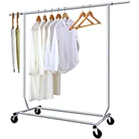 Camabel Portant à vêtements à roulettes Metal Longueur extensible 130-190cm Tringle résistante pour Hauteur métal Charge…