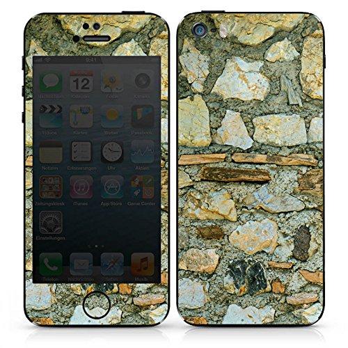 Apple iPhone SE Case Skin Sticker aus Vinyl-Folie Aufkleber Mittelalterliches Gemäuer Steinwand Steine Look DesignSkins® glänzend