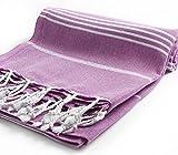 garageofistanbul Hamamtücher Türkischen Tuch Badetuch Handtuch Saunatuch Strandtuch Hamamtuch Pestemal Peshtemal (Purple)