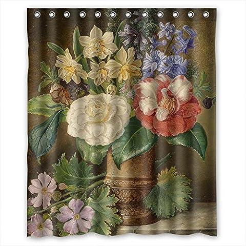 Custom Design berühmten Classic Art Gemälde Blumen Blüten Vorhang für die Dusche, Größe Breite x Höhe/152,4x 182,9cm/W H 150von 180cm, Polyester, strapazierfähiges, Best und geeignet für Verwandte