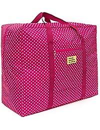 Lemish Waterproof Foldable Big Carry On Luggage Packing Travel Organsier Bag- Multi Color