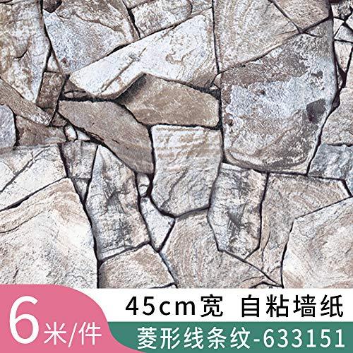 lsaiyy Tapete selbstklebend 3D Feste Geometrie wasserdicht PVC Hintergrund Tapete- 45CMX6M