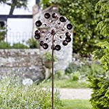Venti Wind Spinner Crackle Ball Globe Light (Solar Powered)
