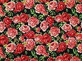 Blumenmuster im Vintage-Stil rose print Polycotton Kleid