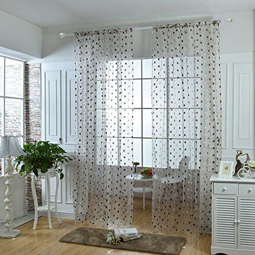 hoomall-1-piece-rideau-a-oeillet-rideaux-translucides-lumineux-interieur-de-fenetre-motif-point-100x