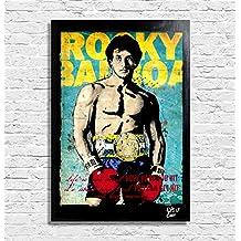 Sylvester Stallone in Rocky Balboa - Pintura enmarcado original, imagen, impresión, cartel, póster, impresion en lienzo, cuadro, cómics, cartel de la película