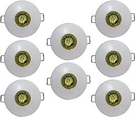 Bene Glow M.Steel Round Ceiling Light, (Yellow, 3w, Pack of 8 Pcs)