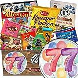77. Geburtstagsgeschenk | Schoko Box Ostalgie | 77 Geschenke zum 77 Geburtstag
