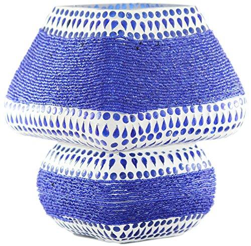 edivine 's Diffusor/Kerzenhalter/Handcrafted Festive Home Decor mosaik Glas Kerze ständer mit rundem Fuß weihgabe Teelichthalter, (Design # 42) - Beleuchtung Fuß-kerzen
