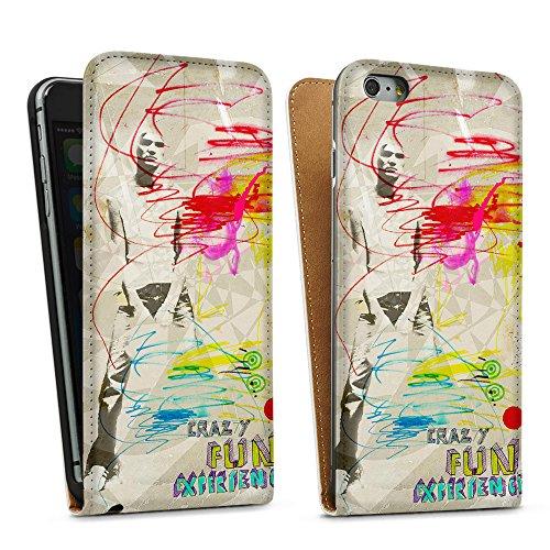 artboxONE Handyhülle iPhone SE forlife - Abstrakt - Smartphone Case mit Kunstdruck hochwertiges Handycover kreatives Design Cover aus hartem Kunststoff von Sandrine Pagnoux Downflip Case weiß
