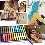BOOLAVARD 24 Colori Provvisoria di Colore non Tossico Kit Gesso dei Capelli Della Tintura di Capelli Salon Pastello