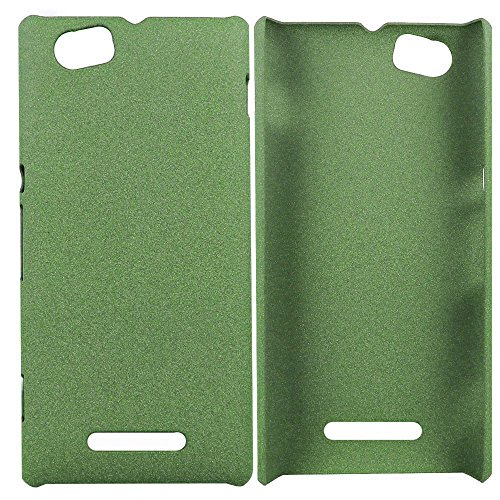Heartly QuickSand Matte Finish Hybrid Flip Thin Hard Bumper Back Case Cover For Sony Xperia M C1905 C1904 - Nature Green  available at amazon for Rs.299