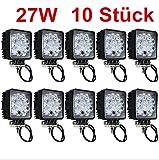 10 Stück 27W LED Offroad Zusatzscheinwerfer Scheinwerfer Arbeitsscheinwerfer IP67