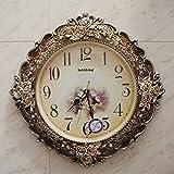 Y-Hui Reloj de Pared Reloj de Mute Salón Jardín Barroco de Mesa Mesa de Pared Reloj de Pared Decoración Art