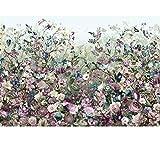 Komar Fototapete, XXL4-035, Vliestapete, BOTANICA, 368x248cm colorierte Blumen-Collage, Kunst, hell