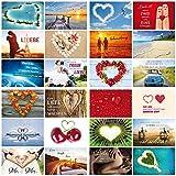 52 Wochen-Hochzeitsspiel: Ein Jahr lang jede Woche eine andere Karte für das Brautpaar - 52 verschiedene Motive mit und ohne Sprüche zum Thema LIEBE (10794-10939)