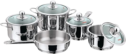 Vinod Cookware Induction Friendly Tuscany Set, 5-Pieces