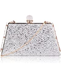 Suaveness Glittery Silver Color Sling Bag For Women