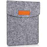 Procase–Funda para tablets de 6, fieltro portátil bolsa de transporte protectora para 5–6pulgadas Smartphone libro electrónico E-Book