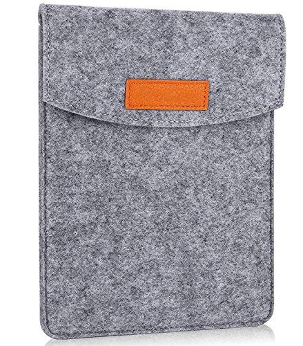 """ProCase 6-Zoll-Hülsen-Koffer-Tasche, Tragbarer Filz Tragebeutel Schutzhülle für 5-6""""Zoll Tablette Smartphone E-Reader E-Book -Grau"""