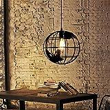 Coquimbo retro lámpara de araña Globo forma Metal lámpara de techo Ajustable Base E27 para Barra, Cocina, Comedor, Habitación (bulbo no incluyó)