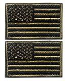 tacvasen 2piezas–diseño con bandera de Estados Unidos parche bordado insignia, hombre, Army Green