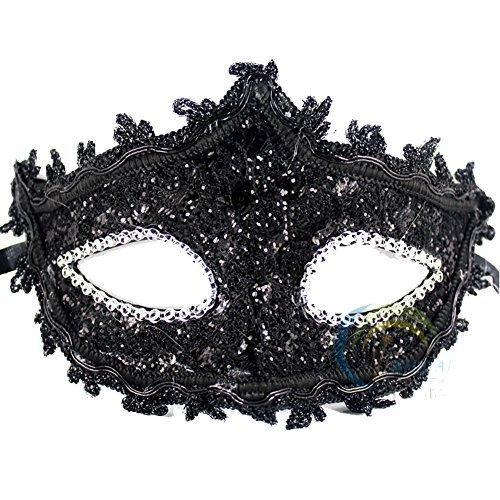 Spitze mit Strass Venezianischen Maske für Frauen Mädchen Kostüm Masquerade Maskenball Masken (Masquerade Kostüm Mädchen)