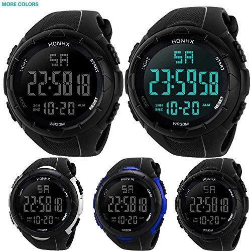 KanLin1986 Reloj Digital Impermeable para Hombre, Reloj LED Digital Deportivo para Mujer Fecha de Alarma...