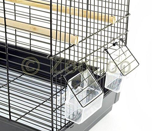Vogelkäfig Wellensittich Kanarien Papagei Komplett Käfig Vogelbauer schwarz