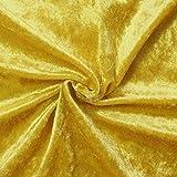 Pannesamt Stoff Meterware Gold-Gelb