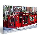 islandburner Bild Bilder auf Leinwand Dublin, Irland - 30. März 2013 - Temple Bar ist EIN berühmtes Wahrzeichen in Dublin Kulturviertel vo Wandbild, Poster, Leinwandbild HWR-1K