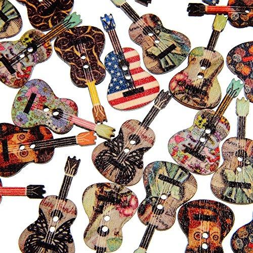Little Finger 50 Stück gemischte Holzknöpfe mit 2 Löchern in Blumenform, zum Nähen und Scrapbooking, schön und zart, holz, Zufällige Farbauswahl, Einheitsgröße (Dekorative Windel-pins)