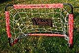 Dunlop 2 Fußballtore mit Netz und Metallrahmen, Steck-klick-Montage, Heringe inklusive, ca. 78 x 56 x 45 cm