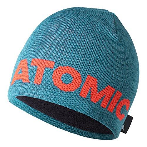 Atomic Bonnet Beanie pour Homme, Alps Beanie, Acrylique/Élasthanne, Taille Unique, Turquoise/Rouge Clair, AL5036640