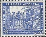 Alliierte Bes.-Gem.Ausg. 966IX, weißer Riss durch Markenbild (Feld 2) 1947 Leipziger Messe (Briefmarken für Sammler)