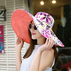 Summer large brim beach sun hats for women UV protection women caps