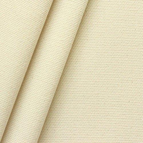 STOFFKONTOR 100% Baumwolle Canvas Stoff Segeltuch Meterware Roh-Weiss Natur - Baumwoll-canvas Stoff