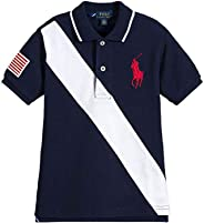 Ralph Lauren Boys Big Pony Flag Polo Shirt (Medium 10-12)