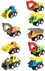 Amitasha Construction Truck Toy Play Set (9 Truck Set)