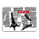 """Vintage Paris 5, Paris Journal, Autocollant Vinyl Adhésif Dessin Coloré et Effet de Cuir pour les Portable Tactile et Ordinateurs Portables pour Apple MacBook Pro 13"""""""