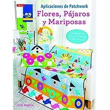 Aplicaciones de patchwork. Flores, pájaros y mariposas