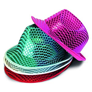 Non Concerne Rubies-156033-Accesorio para Disfraz-Parte del Cuerpo-Sombrero Disco-5Colores