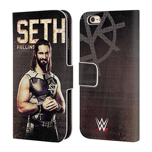 Offizielle WWE John Cena Superstars Brieftasche Handyhülle aus Leder für Apple iPhone 5 / 5s / SE Seth Rollins