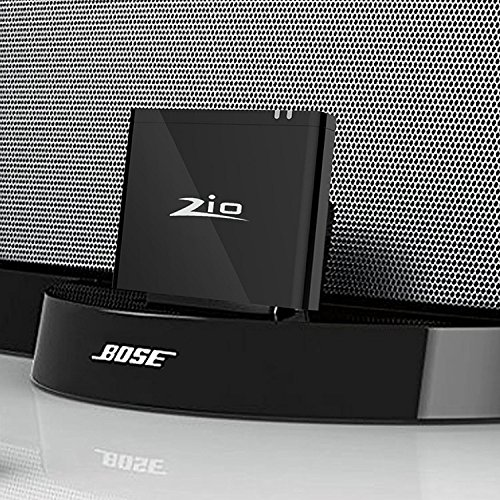 Ziocom bluetooth Adaptador de audio Receptor de música 8 pin Convertidor inalámbrico Bluetooth 4.2 perfecto para Bose Sounddock III / XT, JBL MS302GM,PHILIPS DS1155B / 93 ,compatible con Amazon Echo y Echo Dock