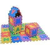 36pcs Tapis De Jeu Bébé Puzzle Tapis Chiffres et Lettres Tapis Puzzle en Mousse Tapis de Chambre D'enfant Jouets pour Bébé Fi
