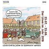 Löwe Mini 2018: Sternzeichenkalender-Cartoon - Minikalender im praktischen quadratischen Format 10 x 10 cm.
